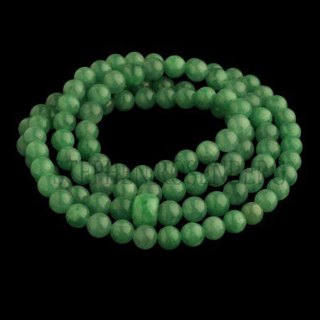 Collier de 108 perles en jade jadéite birman vert