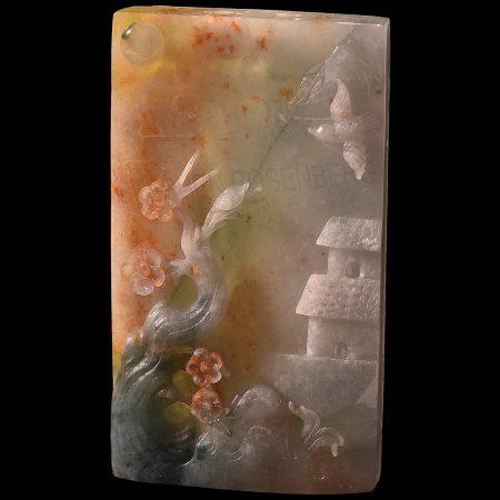 Jadeite Jade Landscape Pendant